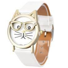 Zegarek kot w okularach panterka